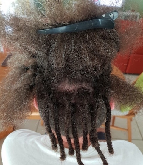 Starting dreadlocks on half head